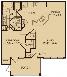 One bedroom apartments in The Woodlands TX