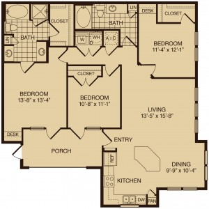 Three bedroom apartments in The Woodlands TX