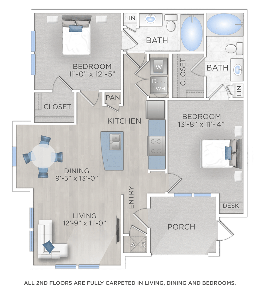 Two Bedroom Apartment Woodlands TX
