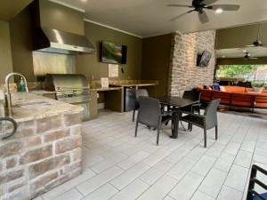 One Bedroom Apartments for Rent in The Woodlands, TX - Covered Outdoor Gilling Area