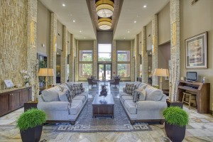 Three Bedroom Apartments for Rent in The Woodlands, TX - Clubhouse Lobby with Couches