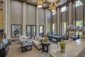 Three Bedroom Apartments for Rent in The Woodlands, TX - Clubhouse Lounge Area with Pool Table
