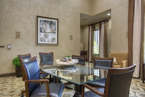 Three Bedroom Apartments for Rent in The Woodlands, TX -  Clubhouse Dining & Conference Table