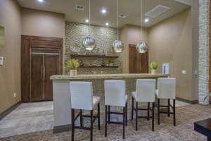 Three Bedroom Apartments for Rent in The Woodlands, TX - Clubhouse Kitchen with Breakfast Bar