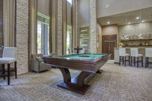 Two Bedroom Apartments for Rent in The Woodlands, TX - Clubhouse Pool Table & Seating