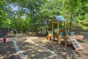 Two Bedroom Apartments for Rent in The Woodlands, TX - Dog Park with Benches