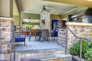 Two Bedroom Apartments for Rent in The Woodlands, TX - Entrance to Covered Grilling Area