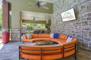 Two Bedroom Apartments for Rent in The Woodlands, TX - Outdoor Cabana Area with TV
