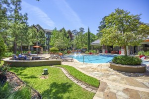 Two Bedroom Apartments for Rent in The Woodlands, TX - Pool & Fire Pit Area