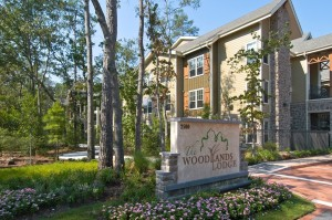 One Bedroom Apartments for Rent in The Woodlands, TX - Community Sign & Building Exterior