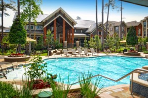 One Bedroom Apartments for Rent in The Woodlands, TX - Pool & Clubhouse