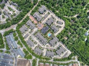 Two Bedroom Apartments for Rent in The Woodlands, TX - Aerial View of Community & Surrounding Area