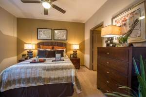 2 Bedroom Apartments for Rent in The Woodlands, Texas - Model Bedroom