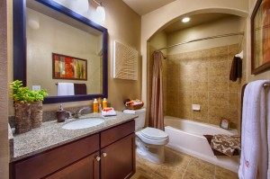 3 Bedroom Apartments for Rent in The Woodlands, Texas - Model Bathroom
