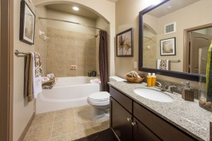 3 Bedroom Apartments for Rent in The Woodlands, Texas - Model Bathroom (2)