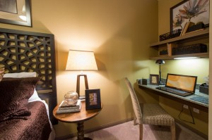 3 Bedroom Apartments for Rent in The Woodlands, Texas - Model Bedroom with Built-In Desk
